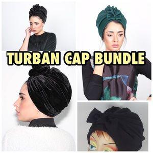 4 Turban Cap Bundle Headwrap made by Rona